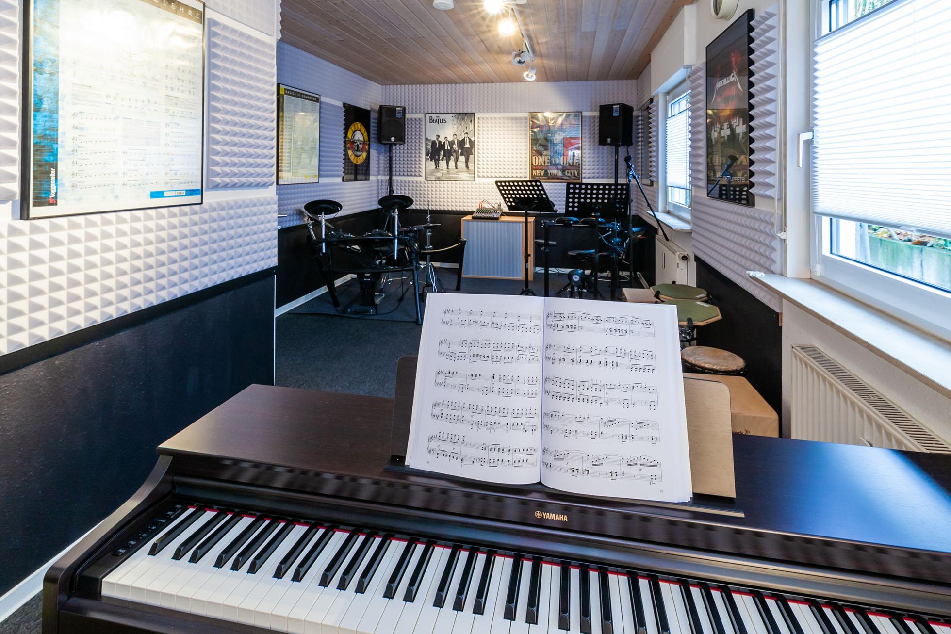 Schlagzeugunterricht Ludwigsburg Musikbox - Raum 4